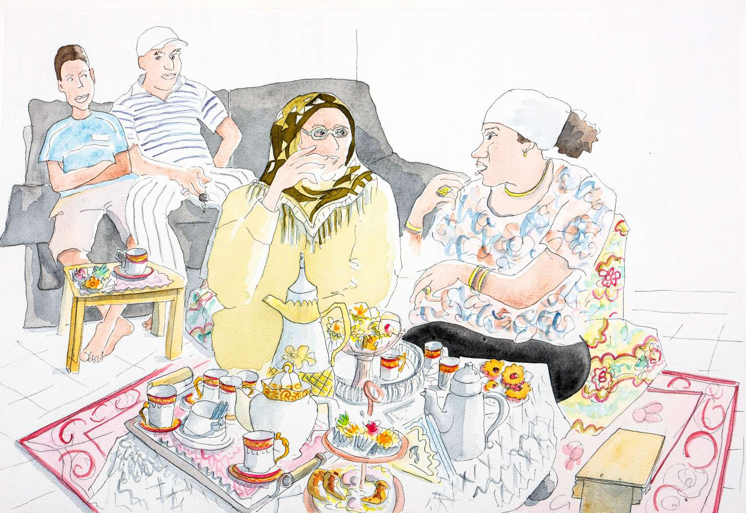 LAWRENCE berlin mitte Ausstellung Exhibit contemporary art drawings Malerei BEAU FRAISIER Eine Kindheit in Algier